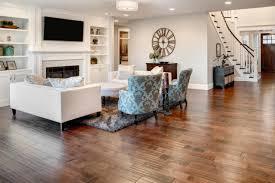 family room with new hardwood floors