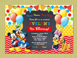 Mickey Mouse Clubhouse 2nd Birthday Invitations Mickey Mouse Clubhouse Invitation Mickey Mouse Birthday