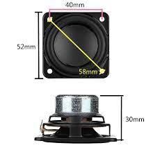52mm taşınabilir hoparlör ünitesi için Bluetooth hoparlör diy 4ohm 20W 2  inç tam aralıklı hoparlör onarım parçaları derin bas neodimyum 2  adet Portable Speakers
