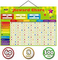 Educational Kids Reward Chore Chart Behavioral Tasks Thick