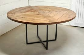 Round Wood Industrial Dining Table Wood Furniture Modern Etsy