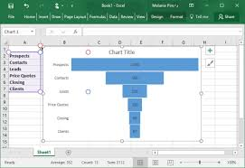 Excel 2016 Pyramid Chart How To Create A Funnel Chart In Excel 2016 Laptop Mag