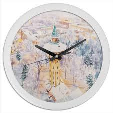 "Часы круглые из пластика ""Сказки снега"" #1752039 от Марина ..."