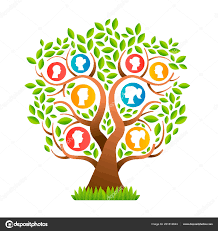 Design Life Kids Family Tree Template Concept People Icons Colorful Design