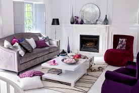 Purple Living Room Silver And Grey Living Room Modern House