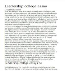 leadership essay samples examples format leadership college essay sample