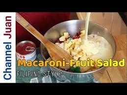 macaroni fruit salad pinoy style