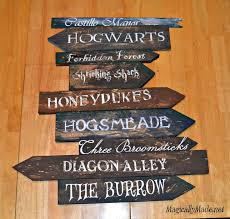 diy harry potter directional sign home