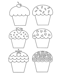 Small Picture sweet cupcake coloring page Coloring Pages Pinterest