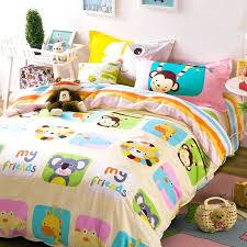 duvet covers bright colors cartoon monkey giraffe koala animals bedding set girl teens duvet cover bright