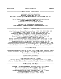 Gallery of: The Professional Health Insurance Resume 2016