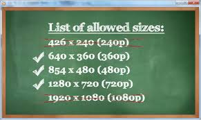 youtube video image size how to upload videos to youtube for the right sizes step by step