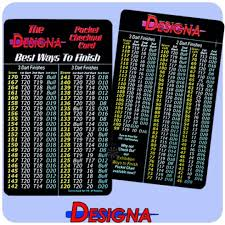Darts Professional Checkout Card 3 And 2 Dart Finishes Best Ways To Finish