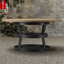 american country wood dining table retro round home hotel cafe hotel villa solid wood dining furniture