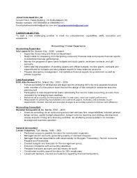 Finance Resume Impressive Accounting And Finance Resume