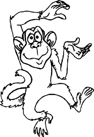 Small Picture Great Coloring Page Monkey 3 3828