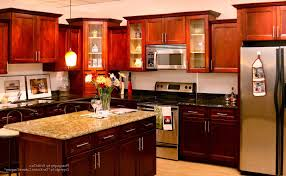 cherry kitchen cabinets black granite. kitchen with cherry cabinets brown oak wooden cabinet black granite countertops painting ideas window treatment n