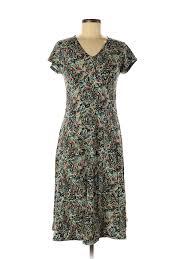 Details About Sahalie Women Green Casual Dress M
