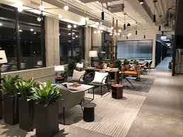 servicenow is curly working out of a temporary workspace in the fulton market before moving