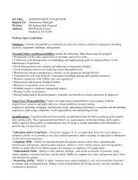 Vibrant Inspiration Maintenance Manager Resume 14 Maintenance