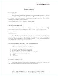 Qtp Sample Resume For Software Testers Inspirational Qtp Sample
