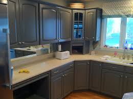 Grey Painted Kitchen Cabinets Refinishing Kitchen Cabinets Grey Quicuacom