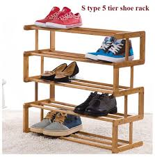 lovely wood shoe rack 5 wooden simple s type multi layer diy tier onlywooden 1612 25