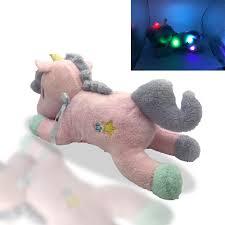 Light Up Stuffed Unicorn Us 18 92 New Luminous Stuffed Unicorn Toy Led Light Up Plush Doll Glow Pillow Auto Color Rotation Gift 55cm 21 6 Inch Birthday Gfit In Stuffed