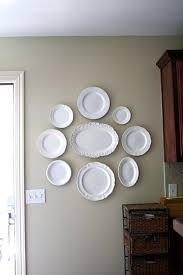 ... Inspiring Wall Decoration Using Various Hanging Wall Plates Decor :  Casual Image Of Kitchen Decoration Using ...