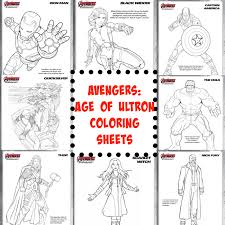 Avengers Coloring Pages Food Crafts And Family