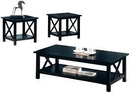 black coffee and end tables coffee table black coffee table sets for unique your living spaces