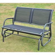 outsunny double seat outdoor patio bench