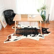 cow skin rug floor mat kitchen carpet rug simulation cowhide rug print mat cow hide faux cow skin rug