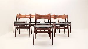 mid century model 310 teak dining chairs by erik buch set of 8 2
