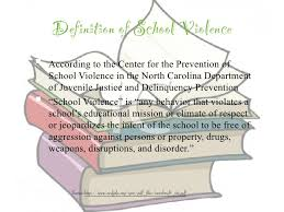 sgp powerpoint school violence  7 definition of school violence