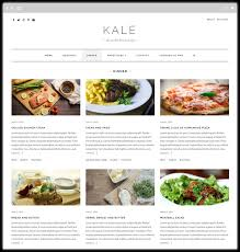 Recipe Page Layout Kale The Perfect Free Food Blog Theme