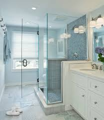 bathrooms with glass tiles. Blue Glass Shower Tiles Bathrooms With L