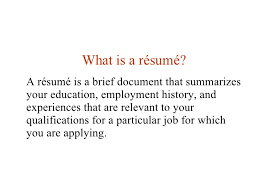 Lesson    Writing A Resume SlideShare Lesson Ten Writing a Resume