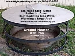 Bhigs54 S Image Fire Pit Heat Deflector Fire Pit Stainless Steel Fire Pit