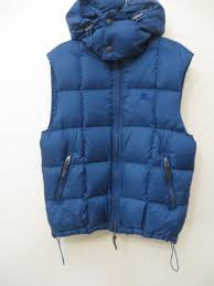 burberry brit men s down quilted puffer vest nova check hooded coat jacket s