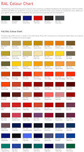 Ral Chart Download Full Ral Color Chart Free Download