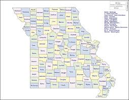 Image result for free printable map of missouri counties