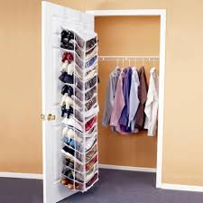 simple small closet ideas with long clothes hanger and hanging shoes shelves on white door simple closet ideas e72 closet