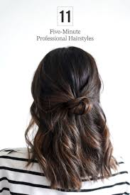 The Cutest Quick Hairstyles For The