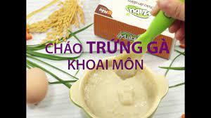 Hướng dẫn nấu Cháo trứng gà khoai môn cho bé cao lớn tăng cân nhanh | Mabu  dinh dưỡng - YouTube