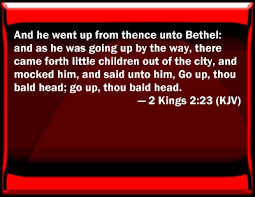 Image result for 2 kings 2:23