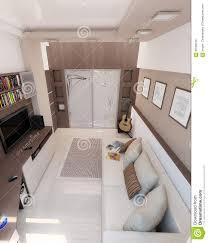 Man Bedroom Young Man Bedroom Interior Design Render 3d Stock Photo Image