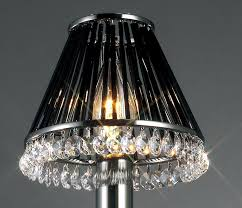 33 nobby design ideas black lamp shades chrome and crystal glass shade for table lamps with