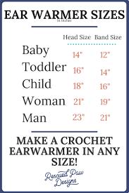 Headband Size Chart How To Crochet A Headband In Any Size Crochet Headband