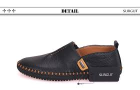 SURGUT Brand Best Quality Genuine Leather <b>Men Flats</b> Casual ...